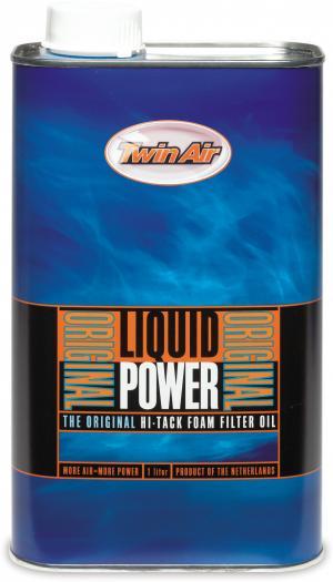Twin air liquid power, air filter oil