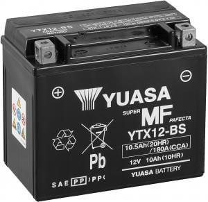 Batterij Yuasa YTX12-BS