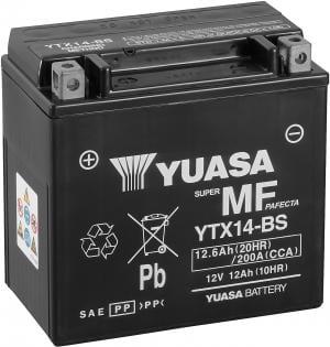 Batterij Yuasa YTX14-BS Nuda SM, TE 630