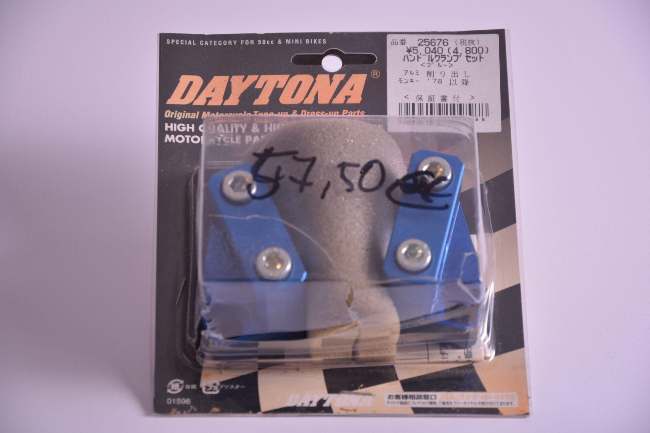Handle clamp set, blue Daytona - 25676