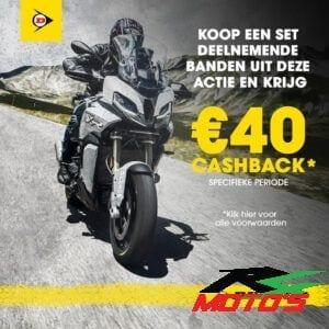 Dunlop cashback actie; SportSmart Mk3, RoadSmart III, Trailmax Meridian, Mutant
