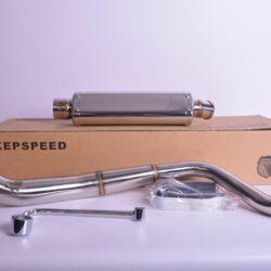 Kepspeed 2 Tone S/Steel Downswept Exhaust – BS1278
