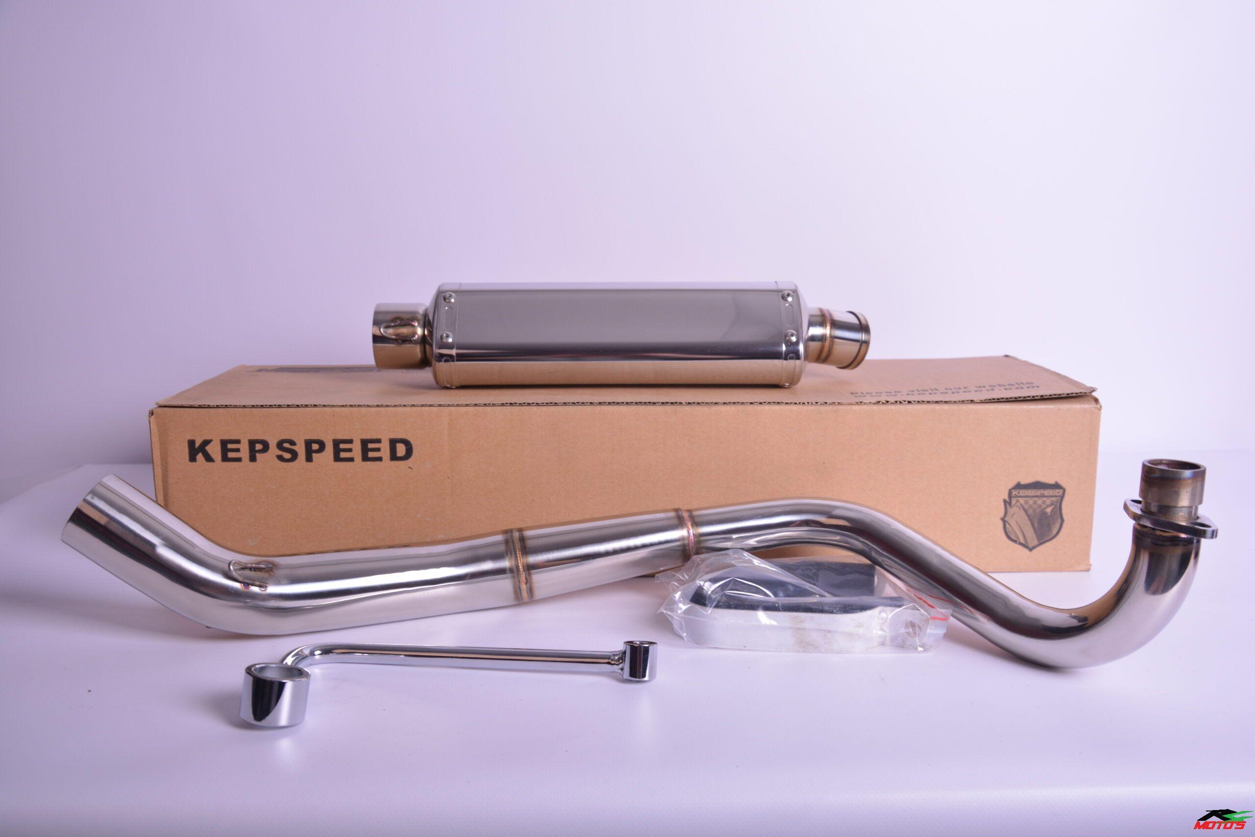 Kepspeed 2T S/Steel downswept exhaust
