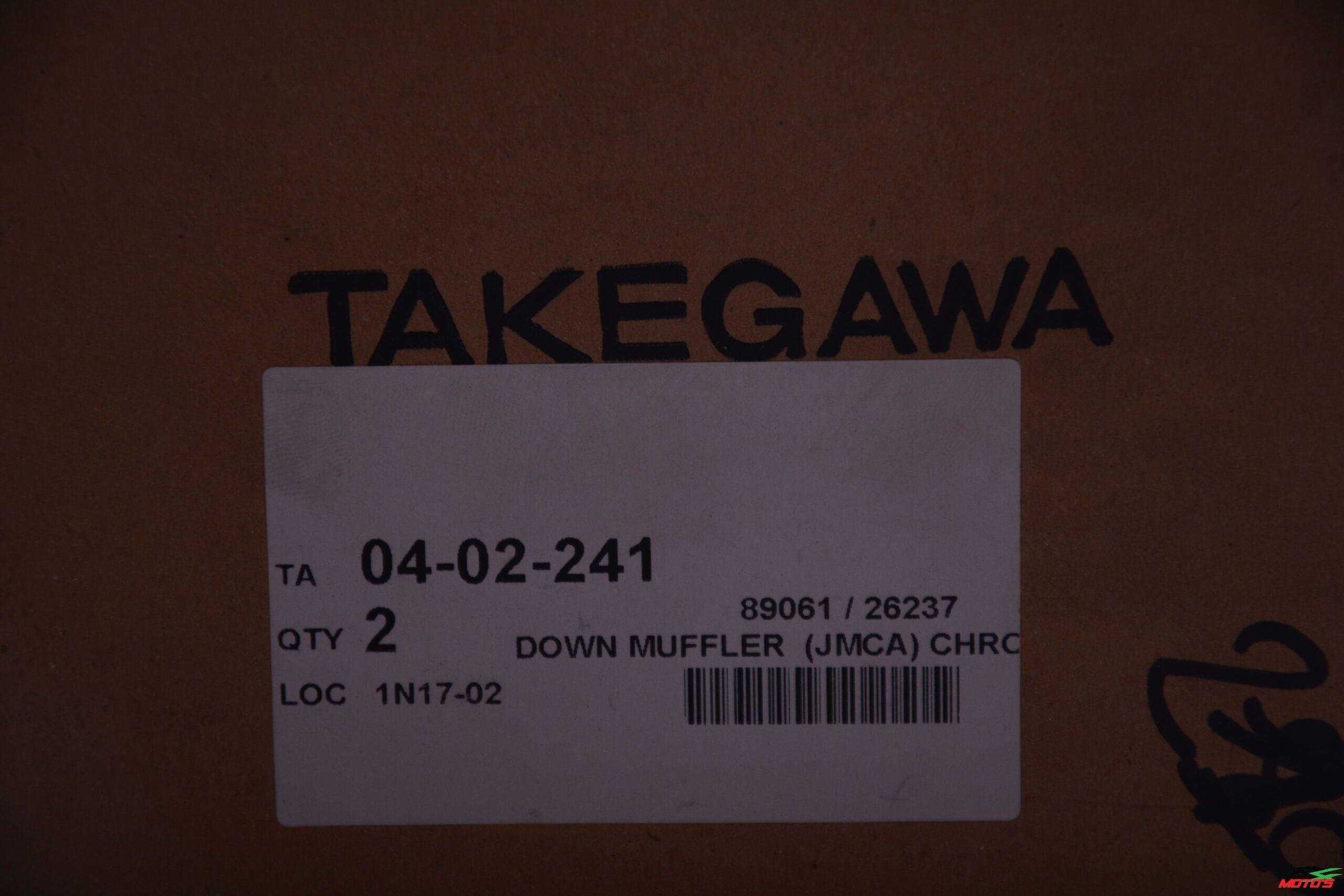 Takegawa down muffler chrome plated - 04-02-241