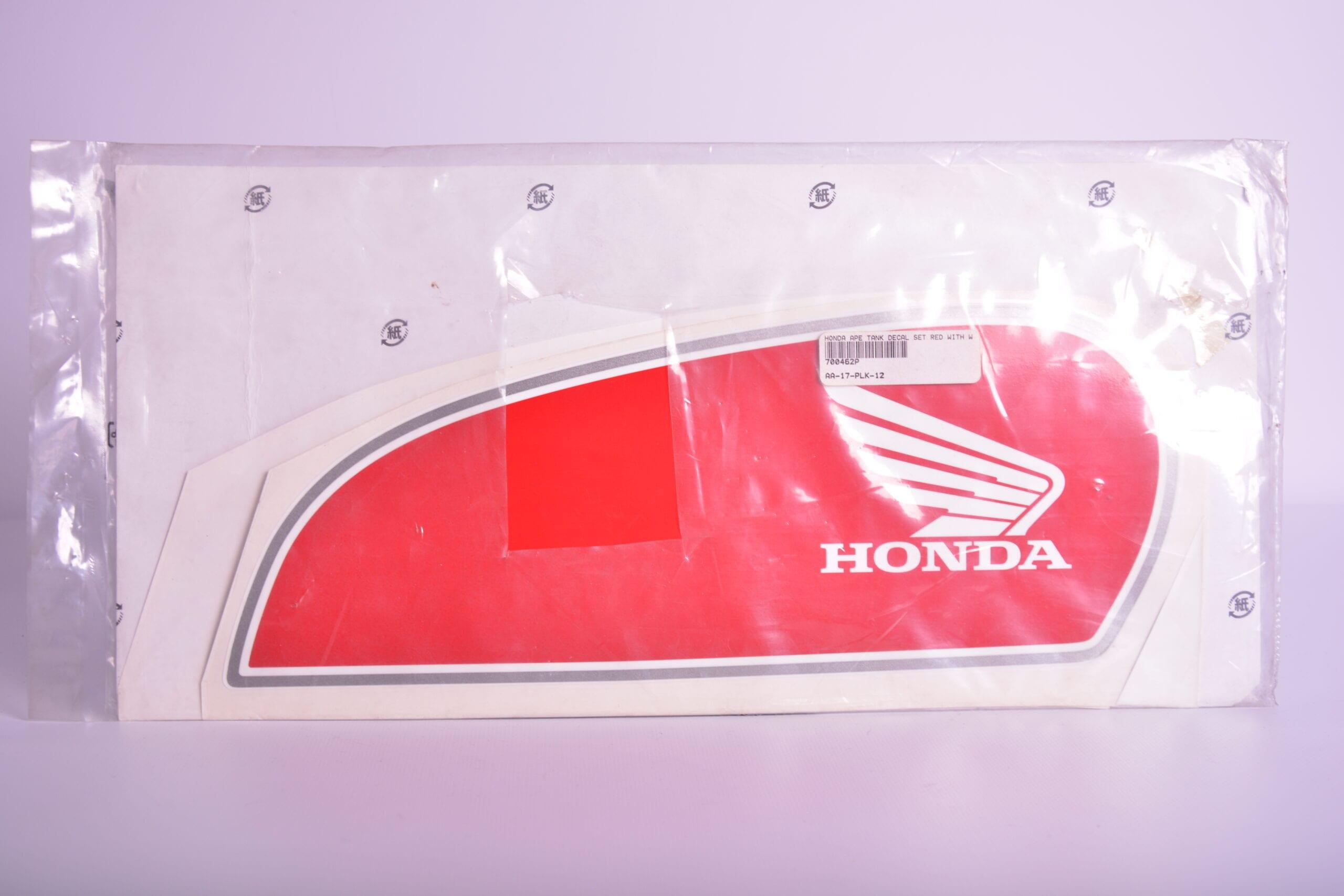Honda Ape tank decal set